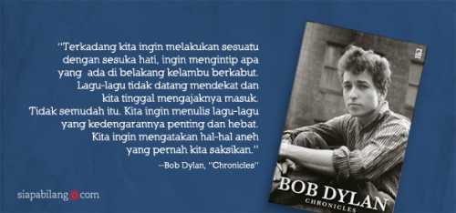 Banner quotes Bob Dylan
