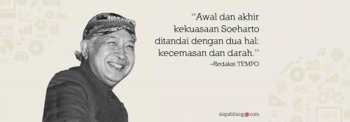 Header Buku Seri Tempo: Soeharto, Setelah Sang Jenderal Besar Pergi