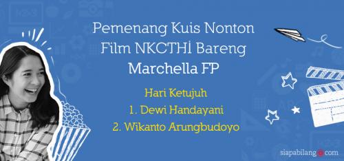 Pengumuman pemenang kuis NKCTHI H7