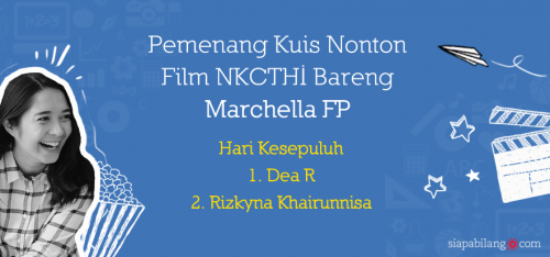 Pengumuman pemenang kuis NKCTHI H10