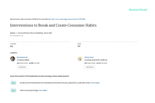 Interventions to Break and Create Consumer Habits