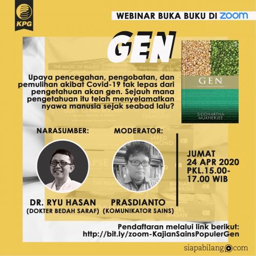Buka Buku: Gen bersama dr. Ryu Hasan dan Prasdianto | #DariRumahAja