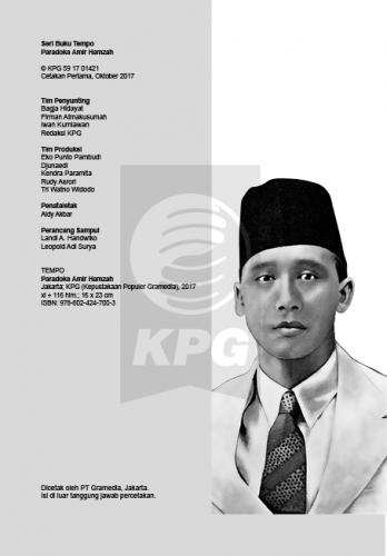 Cover Photo Icip-Icip Buku Seri Tempo: Paradoks Amir Hamzah