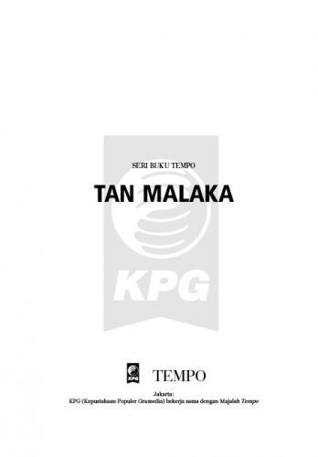 Cover Photo Icip-Icip Buku Seri Tempo: Tan Malaka, Bapak Republik yang Dilupakan