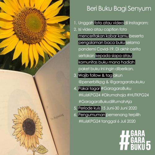 Aturan Main Kuis HUT ke-24 KPG - Gara-gara Buku 5