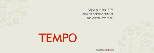Header Buku Seri Tempo: KPK Tak Lekang