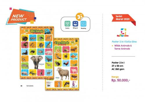 Poster - Poster 2 in 1 GoGo Dino Animals