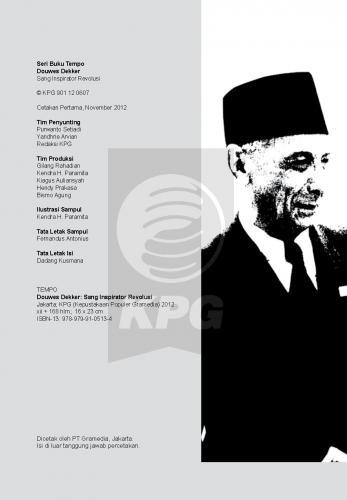 Cover Photo Icip-Icip Buku Seri Tempo: Douwes Dekker, Sang Inspirator Revolusi