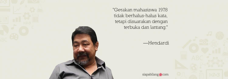 Jejak Aktivisme Hendardi