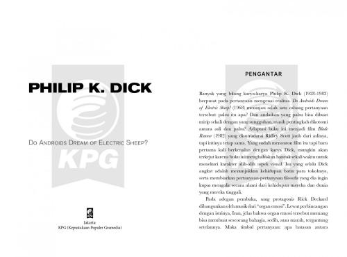 Cover Photo Icip Icip Buku Do Androids Dream of Electric Sheep?
