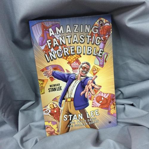 Sampul Buku Amazing Fantastic Incredible Stan Lee terbitan KPG