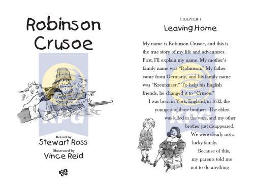 Cover Photo Icip-Icip Buku Abridge Classic Series Robinson Crusoe