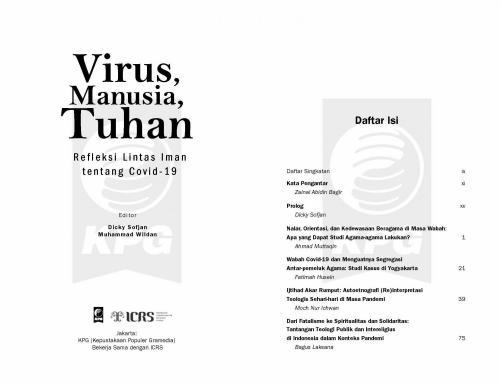 Cover Photo Icip-icip Buku Virus, Manusia, Tuhan