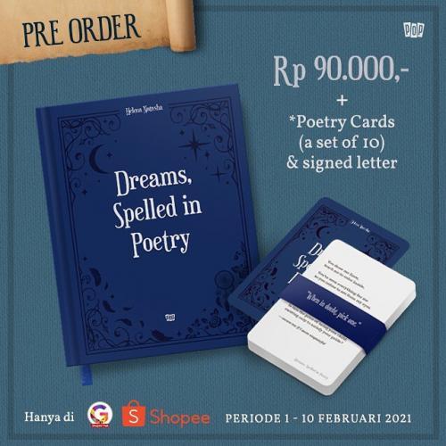 Pre-order Buku Dreams, Spelled in Poetry