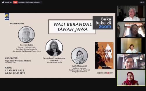 Pembukaan Webinar Buka Buku Wali Berandal Tanah Jawa