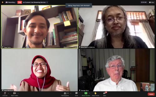 Pengenalan Pemateri pada Webinar Buka Buku Wali Berandal Tanah Jawa