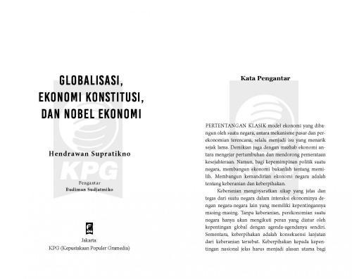 Cover Photo Icip-Icip Buku Globalisasi, Ekonomi Konstitusi, dan Nobel Ekonomi