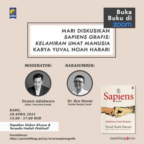 "Poster Talkshow Buka Buku ""Sapiens Grafis"""