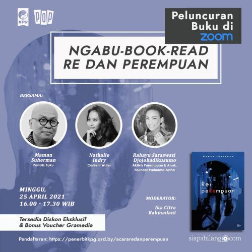 Poster Webinar Peluncuran Buku Re: dan peRempuan