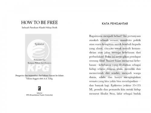 Cover Photo Icip-Icip Buku How To Be Free