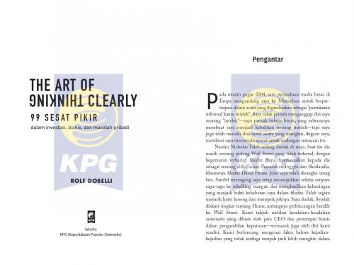 Cover Photo Icip-Icip Buku The Art of Thinking Clearly
