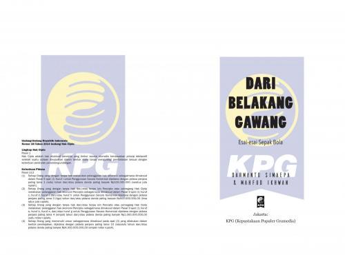 Cover Photo Icip-Icip Buku Dari Belakang Gawang: Kumpulan Esai Sepakbola