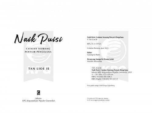 Cover Photo Icip-Icip Buku Naik Puisi: Catatan Seorang Penyair-Pujangga