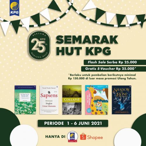 Poster Semarak HUT KPG Diskon 25% di KPG Shopee