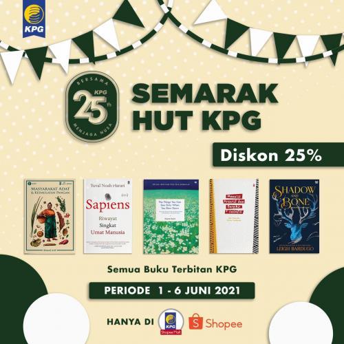Poster Semarak HUT KPG Diskon 25% di KPG Official Shop Shopee