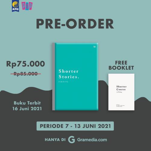 Poster Pre-Order Buku Shorter Stories