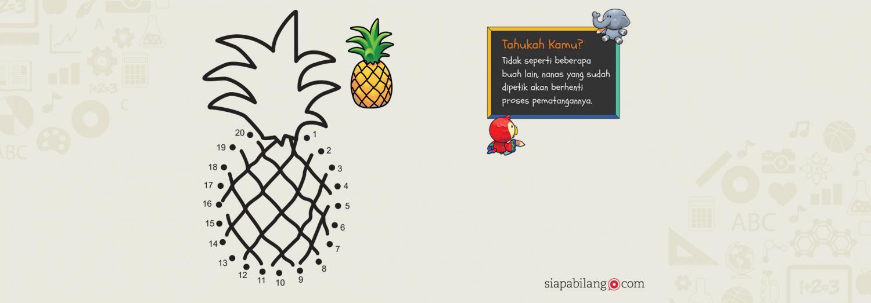 Header Buku Aktivitas Balita Cerdas: Buah dan Sayur
