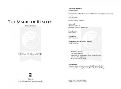 Cover Photo Icip-Icip Buku The Magic Of Reality (Textbook)