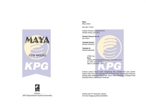 Cover Photo Icip-Icip Buku Maya