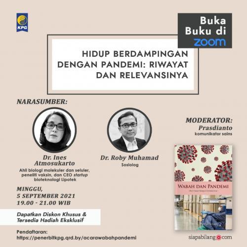 Poster Acara Buka Buku: Wabah dan Pandemi